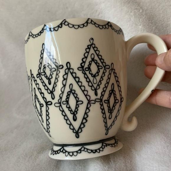 2002 Starbucks VTG Barista Diamond Lace Scroll Mug